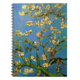 Van Gogh Blossoming Almond Tree, Vintage Flowers Note Books