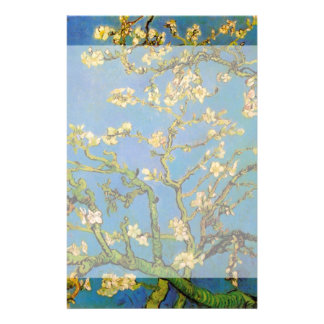 Van Gogh Blossoming Almond Tree, Vintage Flowers Custom Stationery