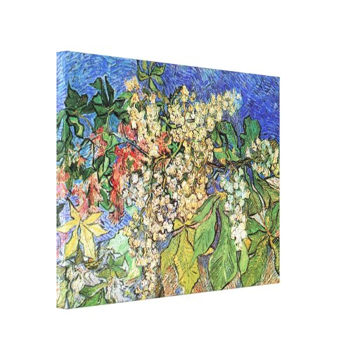 Van Gogh; Blossoming Chestnut Branches Gallery Wrapped Canvas