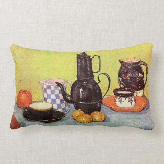 Van Gogh Blue Enamel Coffeepot, Earthenware, Fruit Lumbar Pillow