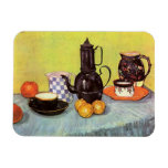 Van Gogh Blue Enamel Coffeepot, Earthenware, Fruit Rectangular Magnets