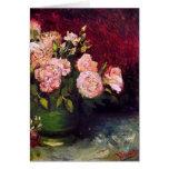 Van Gogh Bowl Peonies & Roses (F249) Fine Art Card