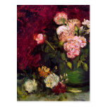 Van Gogh Bowl Peonies & Roses (F249) Fine Art Postcard