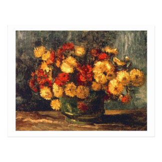 Van Gogh Bowl with Chrysanthemums Post Card