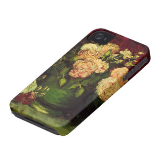 Van Gogh Bowl with Peonies and Roses, Fine Art iPhone 4 Cover