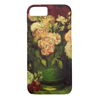 Van Gogh Bowl with Peonies and Roses, Fine Art iPhone 8/7 Case