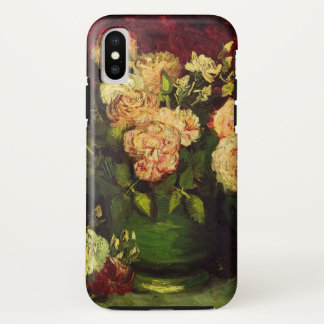 Van Gogh Bowl with Peonies and Roses, Fine Art iPhone X Case