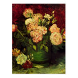 Van Gogh; Bowl with Peonies and Roses Post Card