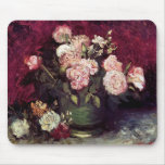 Van Gogh - Bowl with Peonies & Roses Mouse Pad