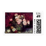 Van Gogh - Bowl with Peonies & Roses Postage Stamps