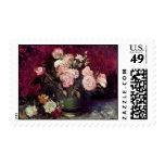 Van Gogh - Bowl with Peonies & Roses Stamp