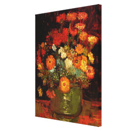 Van Gogh - Bowl with Zinnias Canvas Print