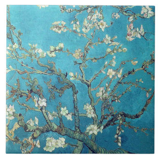 Van Gogh - Branches of Almond Blossom Tile