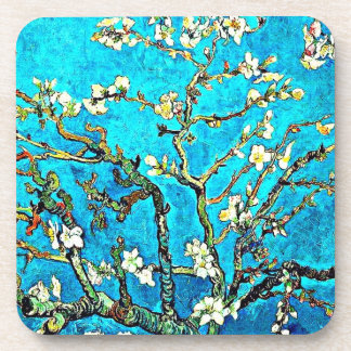 Van Gogh - Branches with Almond Blossoms Beverage Coaster