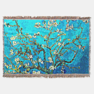 Van Gogh - Branches with Almond Blossoms Throw