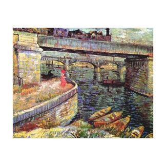 Van Gogh - Bridges Across The Seine At Asnieres Stretched Canvas Print