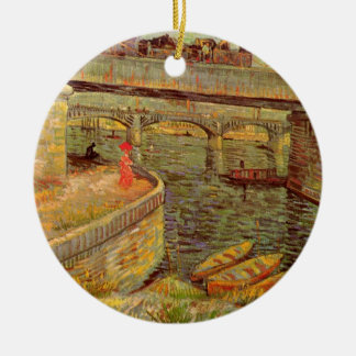 Van Gogh Bridges Across the Seine at Asnieres Ceramic Ornament