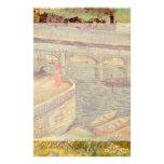 Van Gogh; Bridges Across the Seine at Asnieres Stationery