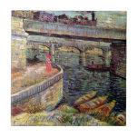 Van Gogh - Bridges Across The Seine At Asnieres Tiles