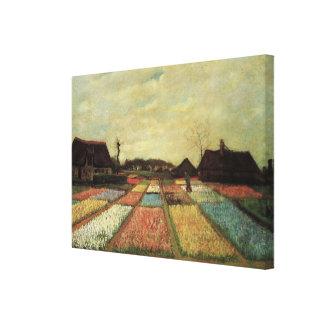 Van Gogh Bulb Fields, Vintage Landscape Fine Art Canvas Print