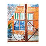 Van Gogh - Butchers Shop Seen From A Window Canvas Print