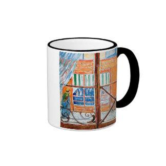 Van Gogh - Butchers Shop Seen From A Window Ringer Mug