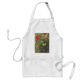 Van Gogh Butterfly Poppies Flowers Peace Destiny Adult Apron