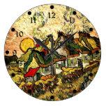 Van Gogh: Cabañas cubiertas con paja en la sol Relojes