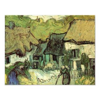 Van Gogh; Cabañas cubiertas con paja Jorgus, casas Invitación 10,8 X 13,9 Cm