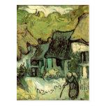 Van Gogh; Cabañas cubiertas con paja Jorgus, casas Postal