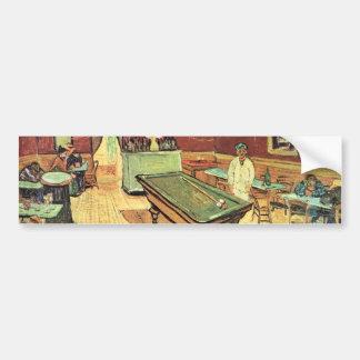 Van Gogh; Café de la noche en el lugar Lamartine,  Etiqueta De Parachoque