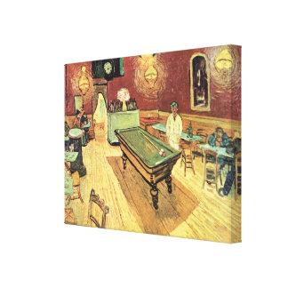 Van Gogh; Café de la noche en el lugar Lamartine, Lona Envuelta Para Galerias