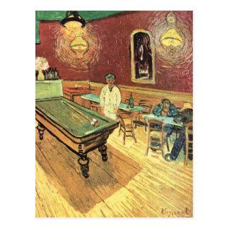 Van Gogh; Café de la noche en el lugar Lamartine, Postal