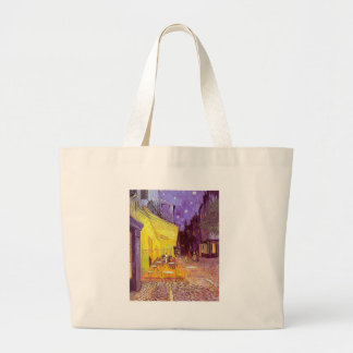 Van Gogh Cafe Impressionist Painting Tote Bags