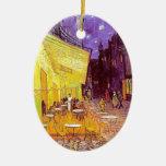 Van Gogh Cafe Impressionist Painting Ceramic Ornament