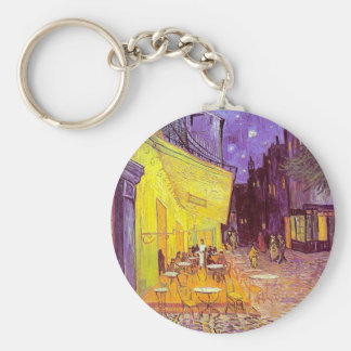 Van Gogh Cafe Impressionist Painting Keychain
