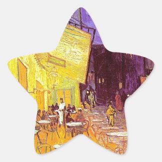 Van Gogh Cafe Impressionist Painting Star Sticker