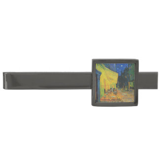 Van Gogh | Cafe Terrace at Night | 1888 Gunmetal Finish Tie Bar