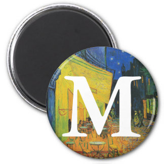 Van Gogh | Cafe Terrace at Night | 1888 2 Inch Round Magnet