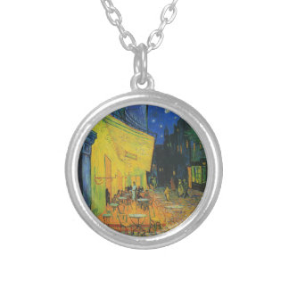 Van Gogh | Cafe Terrace at Night | 1888 Round Pendant Necklace
