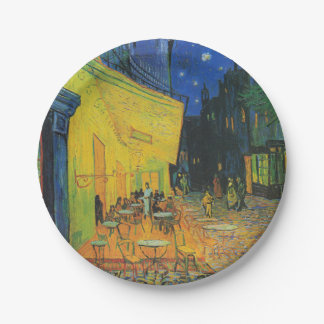 Van Gogh   Cafe Terrace at Night   1888 Paper Plate