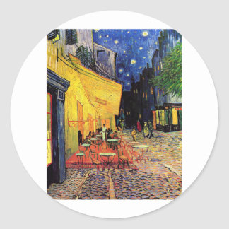 van Gogh - Cafe Terrace at Night (1888) Round Stickers