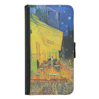 Van Gogh | Cafe Terrace at Night | 1888 Wallet Phone Case For Samsung Galaxy S5