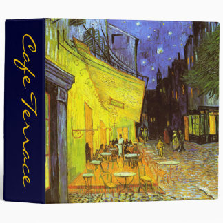Van Gogh: Cafe Terrace at Night 3 Ring Binder