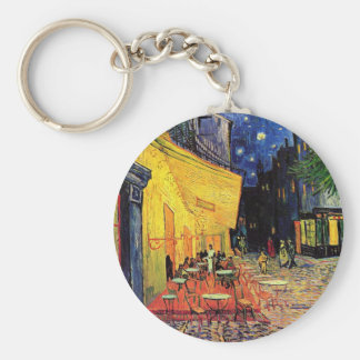 Van Gogh Cafe Terrace At Night Basic Round Button Keychain