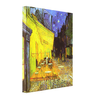 Van Gogh: Cafe Terrace at Night Stretched Canvas Print