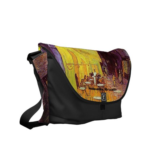 Van Gogh Cafe Terrace at Night Fine Art Messenger Courier Bag