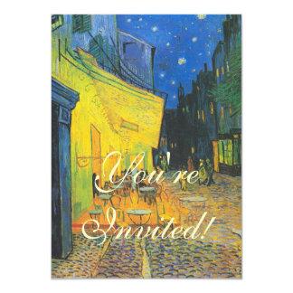 Van Gogh Cafe Terrace at Night 4.5x6.25 Paper Invitation Card