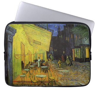Van Gogh; Cafe Terrace at Night Laptop Computer Sleeves