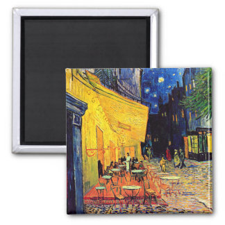 Van Gogh - Cafe Terrace At Night 2 Inch Square Magnet